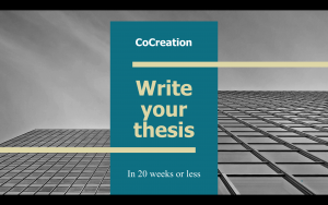 Write your master thesis in 20 weeks or less